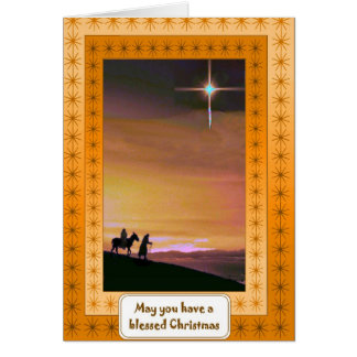 Nativity, religious Christmas card