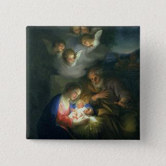 Nativity Scene 15 Cm Square Badge