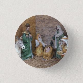 Nativity Scene 3 Cm Round Badge