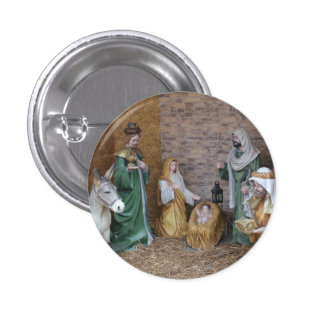 Nativity Scene 3 Cm Round Badge