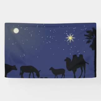 Nativity Scene Backdrop for Christmas Banner
