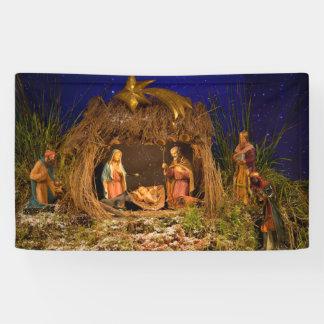 Nativity scene banner