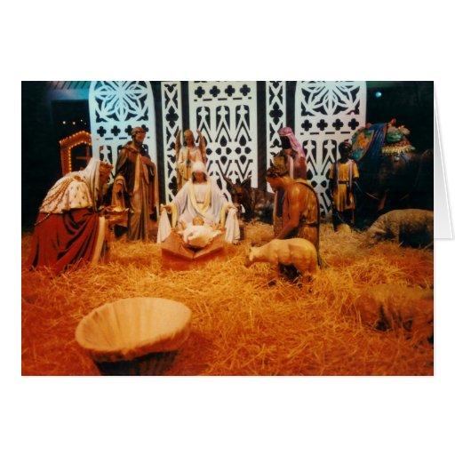 Nativity scene Christmas card Customize