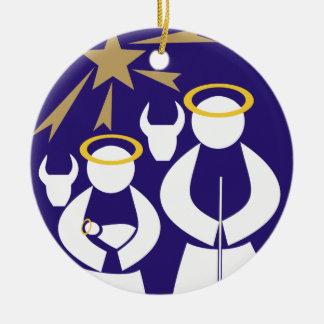 Nativity Scene Christmas Ceramic Ornament