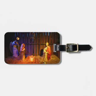 Nativity Scene Christmas Holiday Display Travel Bag Tag