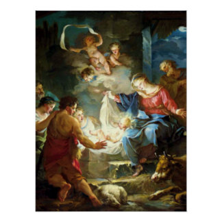 Nativity Scene for Christmas - Pierre Poster