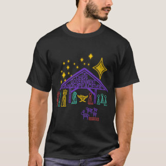 Nativity Scene - Isaiah 9:6-7 Christmas T-Shirt