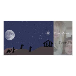 nativity scene photocard photo cards