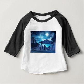 Nativity Scene With Three Wise Men Baby T-Shirt
