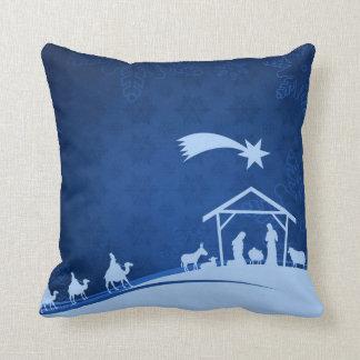 Nativity Scene with Three Wise Men Pillow Cushion