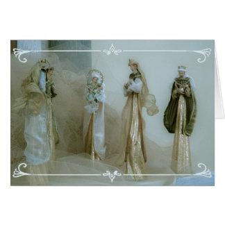Nativity scene xmas card