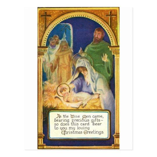 Nativity Scenes & Santa Postcard
