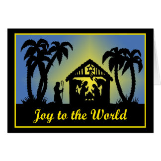 Nativity Silhouette Joy to the World Card