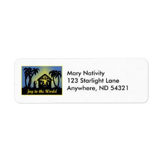 Nativity Silhouette Joy to the World Return Address Label