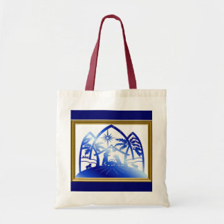Nativity Silhouette Tote Bag
