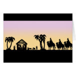 Nativity Silhouette Wise Men on the Horizon Cards