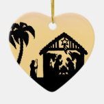 Nativity Silhouette Wise Men on the Horizon Christmas Ornaments