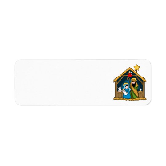 nativity stable scene address labels