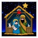 nativity stable scene poster