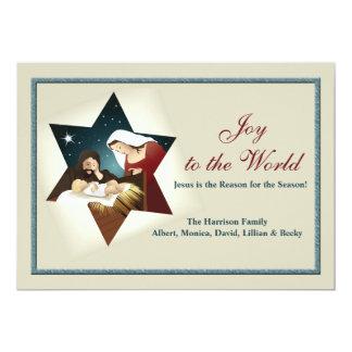 Nativity Star Holiday Card 13 Cm X 18 Cm Invitation Card