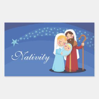 Nativity Rectangular Sticker