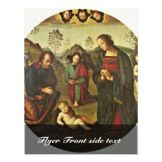 Nativity Tondo By Perugino Pietro (Best Quality) 21.5 Cm X 28 Cm Flyer