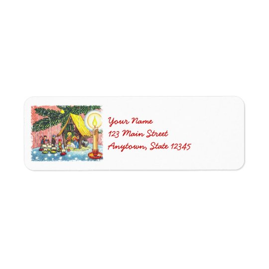 Nativity Under the Christmas Tree Address Labels
