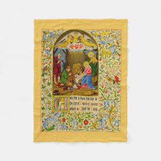 Nativity   Unto you is born this day Fleece Blanket