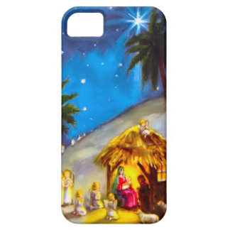 Nativity, with angels iPhone 5 cover