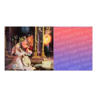 NATIVITY WITH ANGELS - MAGIC OF CHRISTMAS Digital Photo Card