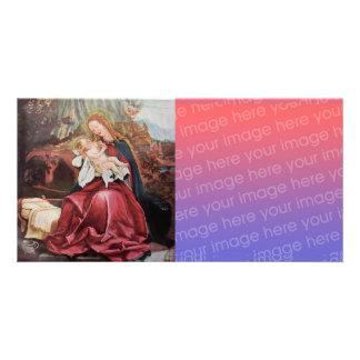 NATIVITY WITH ANGELS - MAGIC OF CHRISTMAS Digital Photo Greeting Card