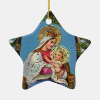 Nativity With Madonna And Child Christmas Ornament