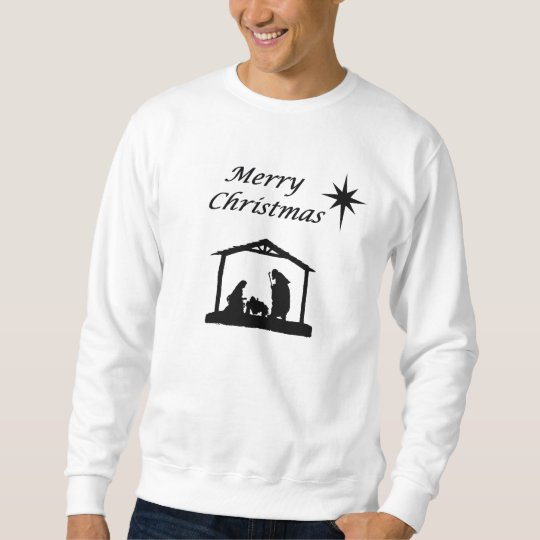 Nativity with Star Christmas Sweatshirt