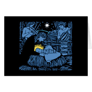 Nativity with Violin Gourd Lute & Free-Arm Swaddle Card