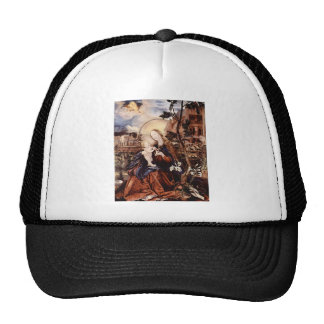 NATIVITY WITH WHITE LILLES - MAGIC OF CHRISTMAS TRUCKER HATS