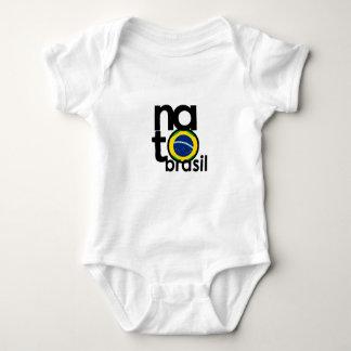 NATO Brasil (BORN Brazil) Baby White One Piece Baby Bodysuit