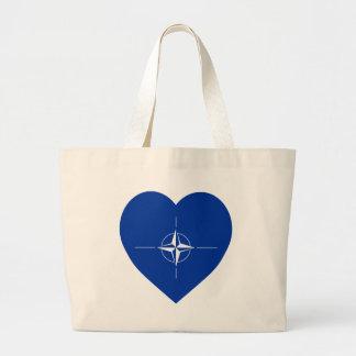 NATO Flag Heart Tote Bag