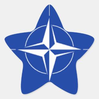 NATO Flag Star Sticker