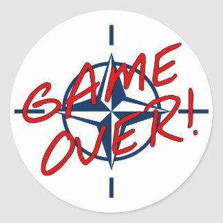 NATO Game Over - stop war Classic Round Sticker