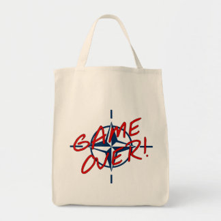 NATO Game Over - stop war Canvas Bags