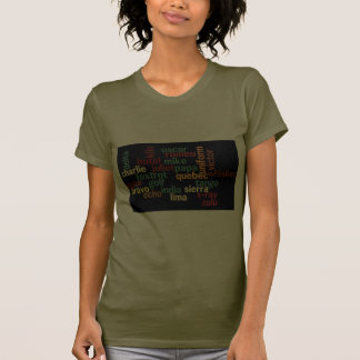 NATO Phonetic Alphabet (Dark Background) T-shirt