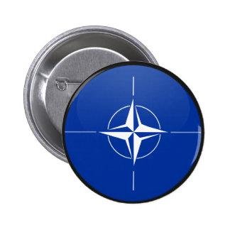 Nato quality Flag Circle Pinback Button