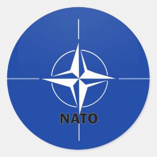 Nato Roundel quality Flag Classic Round Sticker