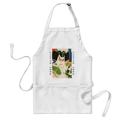 Natori Shunsen Bando Hikosaburo Thirty-six Kabuki Apron