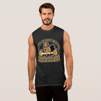 """Natty Peanut Butter Bodybuilder"" Black Sleeveless Sleeveless Shirt"