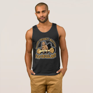 """Natty Peanut Butter Bodybuilder"" Black Tank Top"