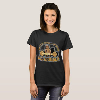"""Natty Peanut Butter Bodybuilder"" Women's Black T T-Shirt"