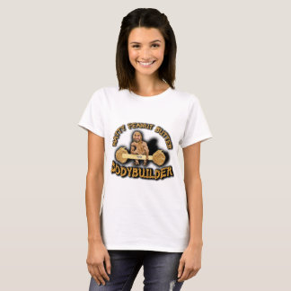 """Natty Peanut Butter Bodybuilder"" Women's White T T-Shirt"