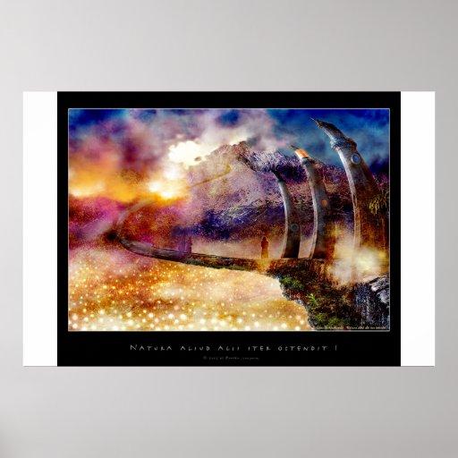 Natura aliud alii iter ostendit - Poster