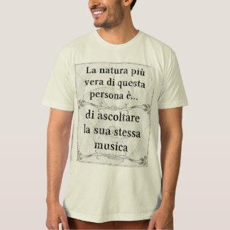 Natura più vera ascoltare musica propria musicista tshirt